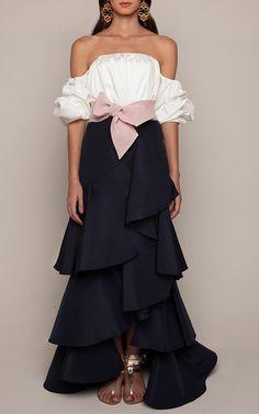 White Cotton Poplin Off The Shoulder Tulum Top by | Moda Operandi