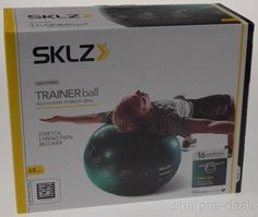 SKLZ Golf Fitness Trainer Stability Ball Green 65 CM Self Guided Exercise Pump - FUNsational Finds - 1