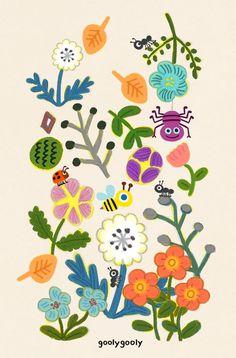 232번째 이미지 Forest Illustration, Pattern Illustration, Botanical Illustration, Ceramic Painting, Pattern Art, Graphic, Painting Inspiration, Art Lessons, Flower Art