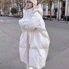 Long Coat Clothes Parkas Womens Winter Coats Puffer Jacket Women Tops Warm White Duck Down Overcoat Harajuku Hat Coats Ll010 Winter Coats Women, Winter Jackets, Oversized Puffer Coat, White Ducks, Womens Parka, Duck Down, Puffer Jackets, Harajuku, Jackets For Women