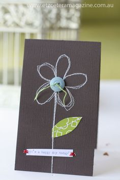 Tutorial on making a stitched card