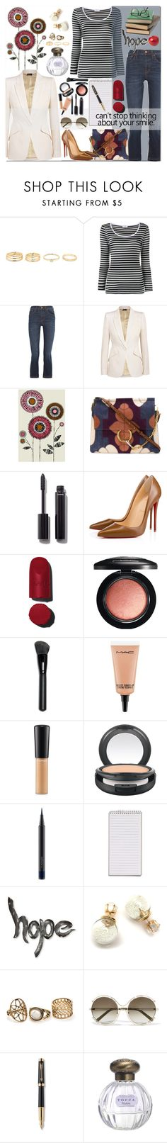 """""""Your Smile"""" by carlagoiata ❤ liked on Polyvore featuring Frame, Madewell, Alexander McQueen, Chloé, Chanel, Christian Louboutin, MAC Cosmetics, NOVICA, Parker and Tocca"""