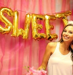 Birthday sweet gold balloons for a sweet 16 birthday party decoration