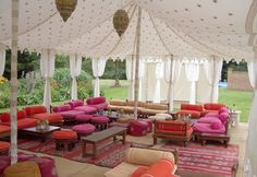 moroccan tents | ... tents and colorful furnishings raise the occasion to a whole new level