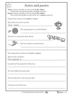 Genetics Worksheet With Answers Excel Sentence Structure Adjective Usage Worksheet  Lessons For Kids  Running Writing Worksheets with 4th Step Inventory Worksheets Excel Active And Passive Sentences In This Language Arts Worksheet Your Child  Learns About Active And Easy Pronoun Worksheets