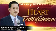'A Heart of Faithfulness' by Pastor Apollo C. Spiritual Enlightenment, Spirituality, What Is A Heart, Kingdom Of Heaven, Great Leaders, Son Of God, Praise And Worship, Apollo, Gods Love