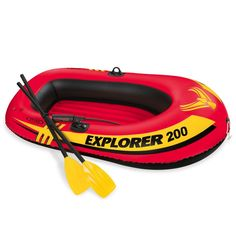 Amazon.com : Intex Explorer 200, 2-Person Inflatable Boat Set with French Oars and Mini Air Pump : Open Water Inflatable Rafts : Sports & Outdoors