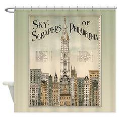 Skyscrapers Of Philadelphia Shower Curtain on CafePress.com