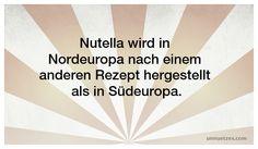 Was ist der Unterschied zwischen deutschem und französischem Nutella? Lest es hier nach: http://www.unnuetzes.com/wissen/5115/nutellarezept/