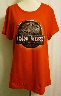 d460233e70a Mushroom Kingdom Red Fitted Womens XL TeeFury Jurassic Park Yoshi World  Mario  fashion  clothing