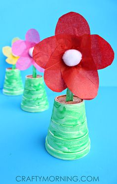 Spoon Flowers for a Mother's Day Gift or Spring Kids Craft! | CraftyMorning.com