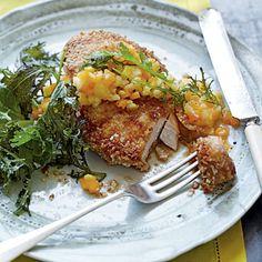 Macadamia Nut Chicken with Papaya-Pineapple Relish | Coastalliving.com