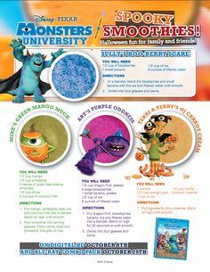 #MonstersUniversity Spooky Smoothies!