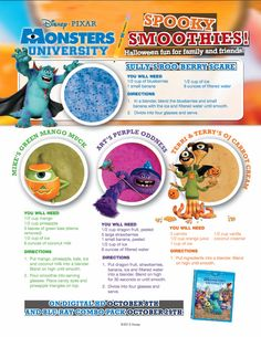 #MonstersUniversity Spooky Smoothies!