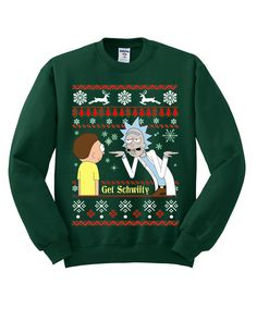 Rick And Morty Ugly Christmas Sweater sweatshirt by mengeluhh