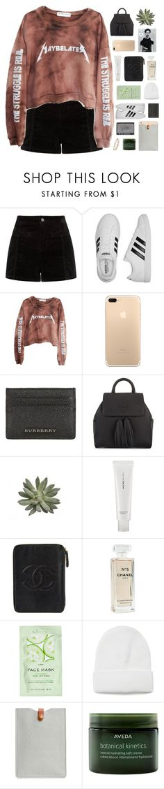 """""""maybe later"""" by omgjailah ❤ liked on Polyvore featuring adidas, High Heels Suicide, Burberry, Tory Burch, AmorePacific, Chanel, H&M, N'Damus, Aveda and NARS Cosmetics"""