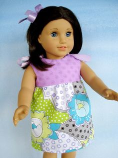 Sewing Pattern for 18 Inch American Girl Doll Clothes - Dresses - Four Styles -  PDF e-Pattern via Etsy