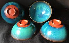 Mumyoi Rice Bowls we've had for 15 years. Purchased at Gyokudō Kamamoto on Sado Island during a grand summer weekend.