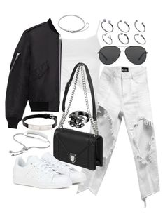 """""""Untitled #20136"""" by florencia95 ❤ liked on Polyvore featuring Topshop, Yves Saint Laurent, adidas, Chanel, Michael Kors, Cartier, Monica Vinader, Eddie Borgo and ASOS"""