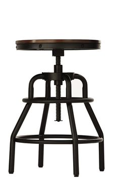 Give your home office or kitchen a touch of transitional style with this Home Decorators Collection Industrial Mansard Adjustable Height Black Bar Stool. Ikea Industrial, Industrial Furniture, Home Bar Furniture, Steel Furniture, Kitchen Stools, Counter Stools, Stool Makeover, Piano Stool, Black Bar Stools