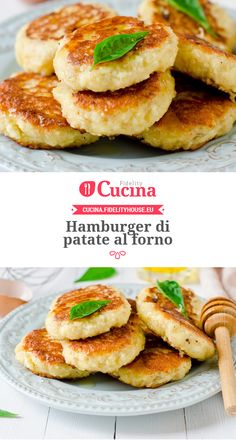 Hamburger di patate al forno