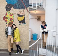 Maison Kitsuné 2013-2014 Fall Winter Collection - Street Chic at Tokyo, Japan: Designer Denim Jeans Fashion: Season Collections, Runways, Lookbooks and Linesheets