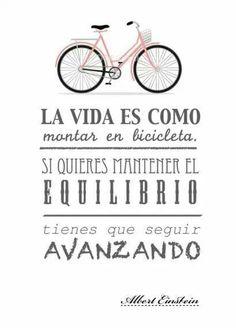 Mantener el equilibrio. Quote. Bicicleta