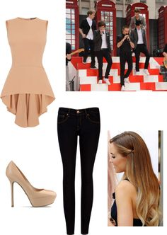 """""""Red Carpet with One Direction"""" by misschocolate14 ❤ liked on Polyvore"""