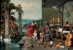 Jan Bruegel il Giovane,   Allegoria dell'udito, 1645-1650 circa.  Ginevra, collezione Diana Kreuger.