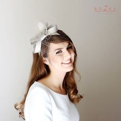 Hey, I found this really awesome Etsy listing at https://www.etsy.com/listing/199084272/modern-silver-fascinator-with-delicate