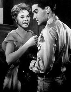 Elvis Presley and juliet prowse in G.I. blues.