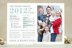 Family Year in Review Christmas Photo
