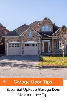 Is your garage door making noises and slowing down? Here are some essential garage door maintenance tips and keep your garage door fully functional for years to come. Garage Renovation, Garage Remodel, Garage Makeover, Garage Door Cable, Garage Doors, Garage Door Maintenance, Garage Door Springs, Garage Addition, Diy Home Decor On A Budget