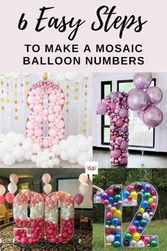 Up Balloons, Number Balloons, Letter Balloons, Balloon Frame, Balloon Arch, Birthday Balloon Decorations, Birthday Party Decorations, How To Make Balloon, 1st Birthday Parties