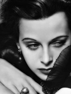 Hedy Lamarr photographed by George Hurrell. Love his lighting and posing, a classic.