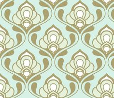 Potential wallpaper pattern for guest bathroom.
