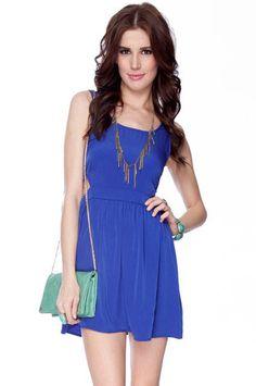 Side to Side Tank Dress in Blue $23 at www.tobi.com