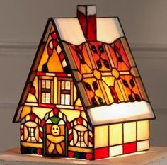"Tiffany Style Stained Glass Accent Lamp ""Gingerbread House"" Aspen Tiffany http://www.amazon.com/dp/B005KAO4W0/ref=cm_sw_r_pi_dp_vR4Lub1YCZZEP"