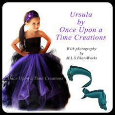 The Little Mermaid Ursula Inspired Villian Tutu Dress - Halloween Costume - 12M 2T 3T 4T 5T - Disney Villian Ursula Inspired
