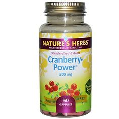 Nature's Herbs Cranberry-Power 60 Caps >>> You can get additional details at the image link.