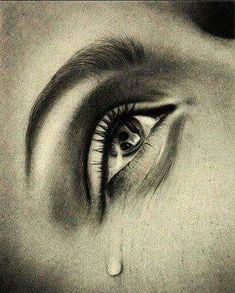 Sad eyes with tears drawings Crying Eye Drawing, Cry Drawing, Drawing Faces, Sad Drawings, Pencil Drawings, Dark Tumblr, Crying Eyes, Sad Eyes, Sad Pictures