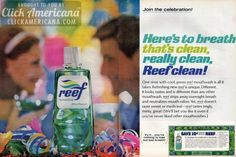Breath that's clean – Reef mouthwash clean! (1966)