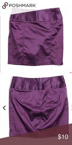 """Forever 21 Deep Purple skirt ️Any item priced $13.00 and below NO OFFERS that is as low as I can go .   Pencil silhouette Dark Purple Solid Measurements 17"""" Length Materials 53% Polyester, 44% Cotton, 3% Spandex Condition This item is gently used with minor signs of wear Forever 21 Skirts Mini"""