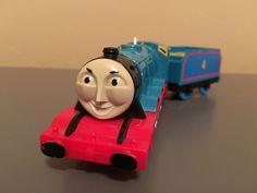 Thomas & Friends Gordon with Tender Motorized Train Trackmaster Works #TOMY #Trackmaster #Thomas&Friends #Gordon #Motorized #Train