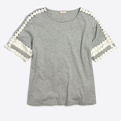 J.Crew+Factory+-+Eyelet-sleeve+T-shirt