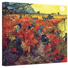 @Overstock.com - Artistic matte canvas is used to vibrantly re-create the artists original work. These magnificent prints are produced with the intention of decorating your home, office or studio with the brilliant essence of the masters who created them.http://www.overstock.com/Home-Garden/Van-Gogh-Red-Vineyard-at-Arles-Wrapped-Canvas/7396580/product.html?CID=214117 $49.99