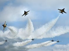 """South Korea's """"Black Eagles"""" Display Team performing their magnificent flying display at Waddington International Airshow 2012"""