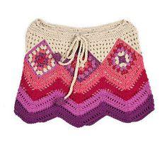 Saia-Square. Multicolor- Agostina Bianchi Boutique- detalhe da saia.