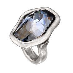 Anillo Flash de Uno de 50 con cristal Swarovski® Elements azul.