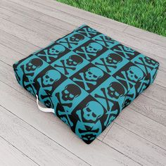 Victorian Skulls Outdoor Floor Cushion by scardesign Picnic Blanket, Outdoor Blanket, Outdoor Floor Cushions, Rock Style, Skulls, Teen, Victorian, Decoration, Outdoor Decor